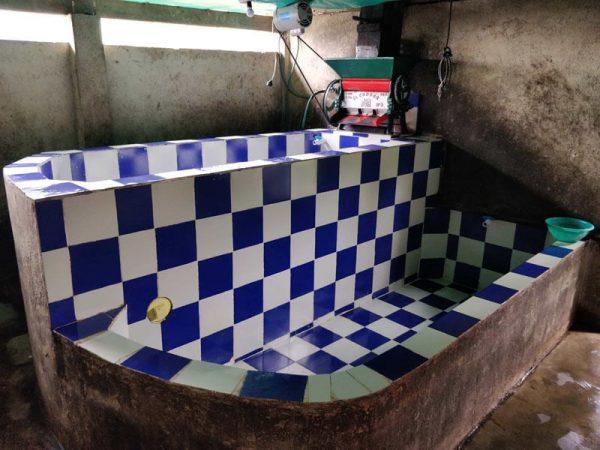 koffie wasstation op Finca El Roblar
