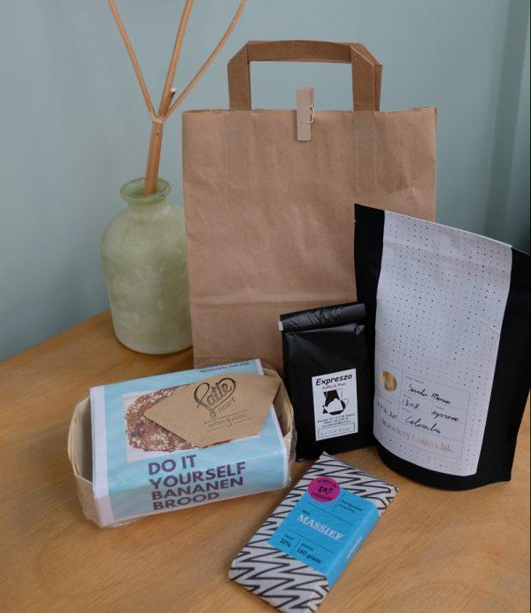 Thuiswerk pakket koffie